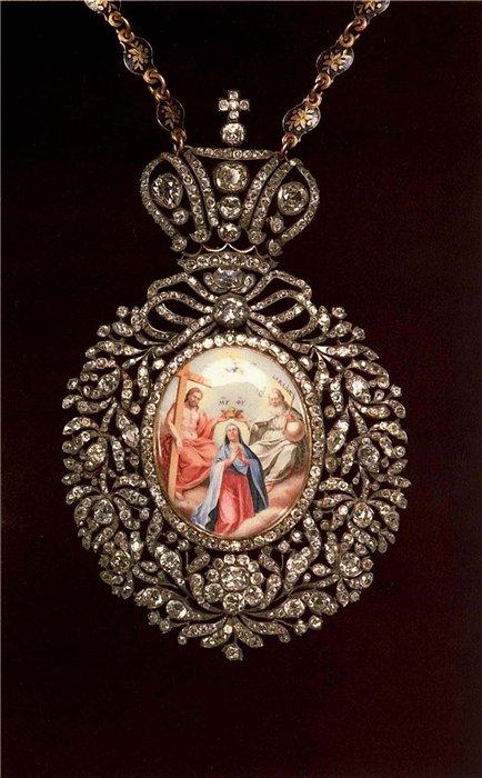панагия Новогородского митрополита Дмитрия 18 век Ювелирное искусство России 18 века