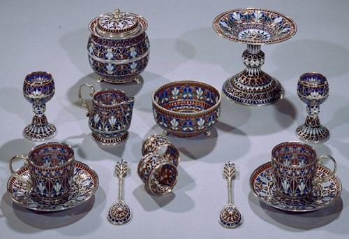 набор посуды 19 век Ювелирное искусство России 19 век