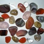 полудрагоценные камни 150x150 Белый агат