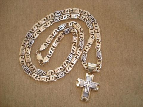 золотые цепочки с крестиком фото