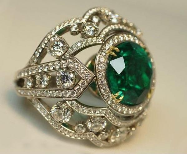 изумруд кольцо Камни зеленого цвета