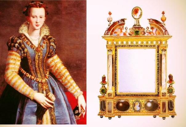 зеркало Марии Медичи Белый агат