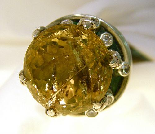 кольцо с цитрином Цитрин камень