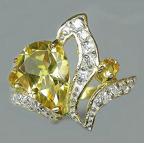 цитрин кольцо Цитрин камень