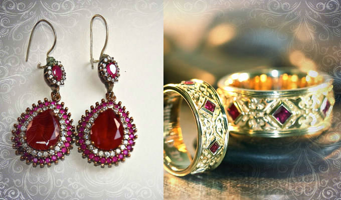 камень рубин кольцо и серьги Камень рубин магические свойства