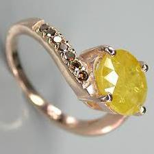 кольцо сапфир1 Желтый сапфир