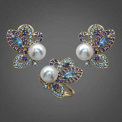Серебряные украшения с топазом и жемчугом Украшения из серебра с натуральными камнями