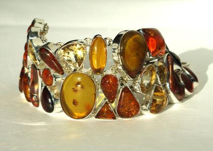 Серебряные украшения с янтарем Украшения из серебра с натуральными камнями