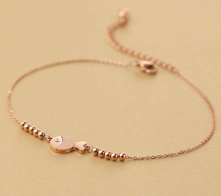 браслет для ног Рыбы камень талисман для женщины