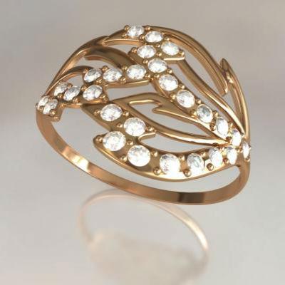 Золотые кольца с камнями 9711871000529
