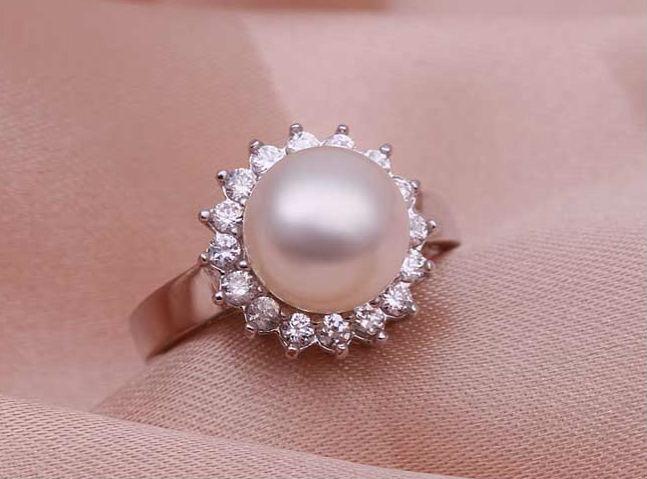 кольцо с жемчугом Рыбы камень талисман для женщины