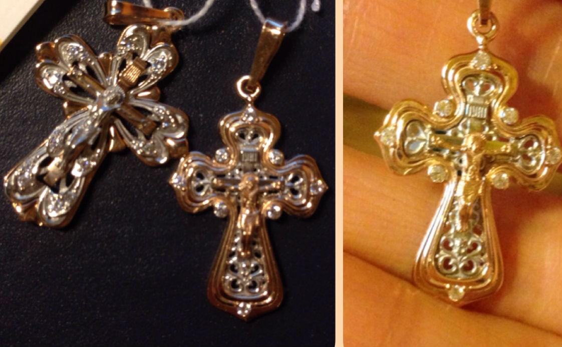 золотые крестики православные Золотые крестики