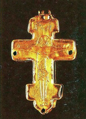 золотые крестики Золотые крестики