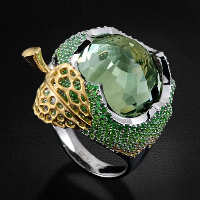 празиолит кольцо Празиолит