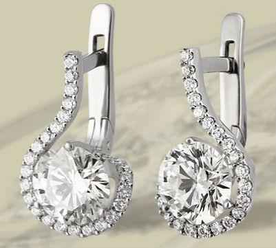 серьги с бриллиантами Драгоценные ювелирные украшения с бриллиантами
