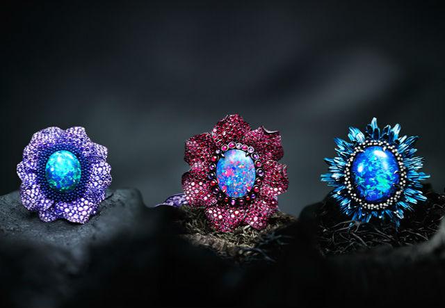 кольцо в виде цветка Использование нестандартных материалов в украшениях