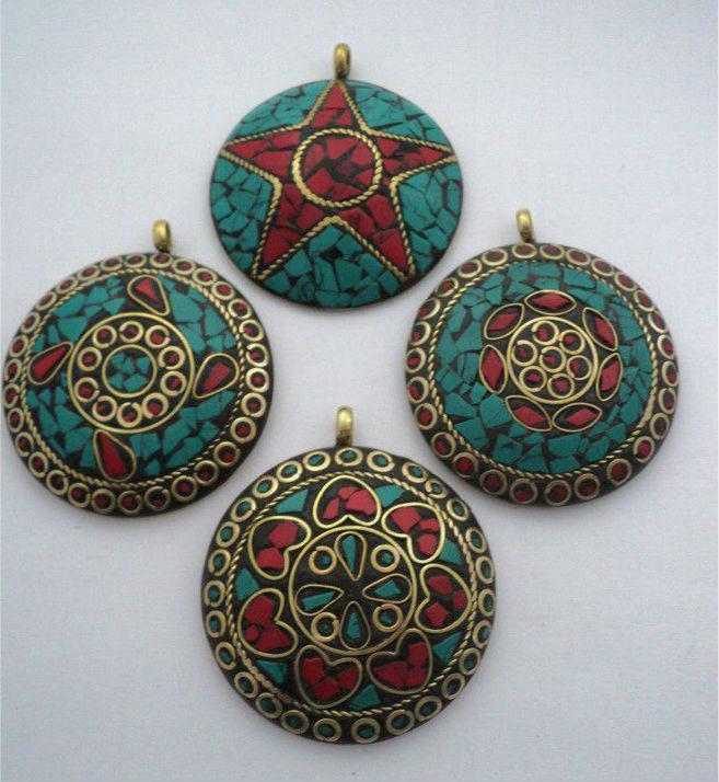 подвески непал Подвески   традиционное непальское украшение