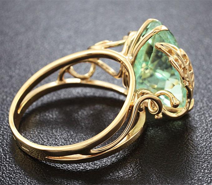 кольцо с гидденитом Камень Гидденит