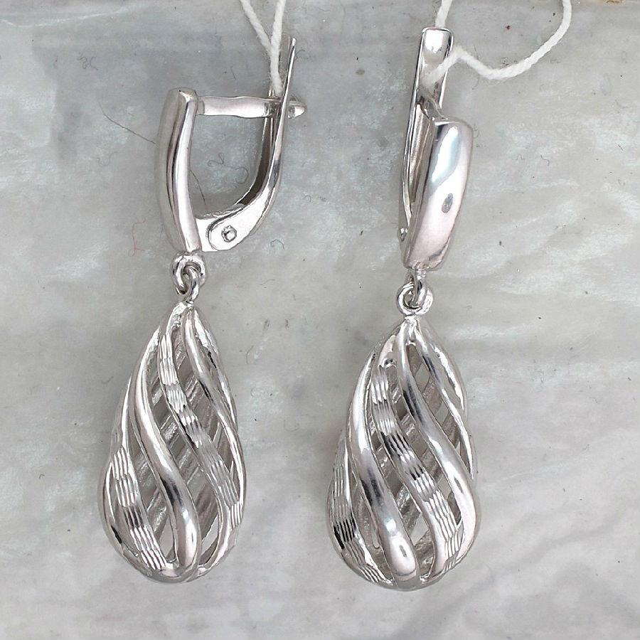 сережки из серебра Серебряные серьги