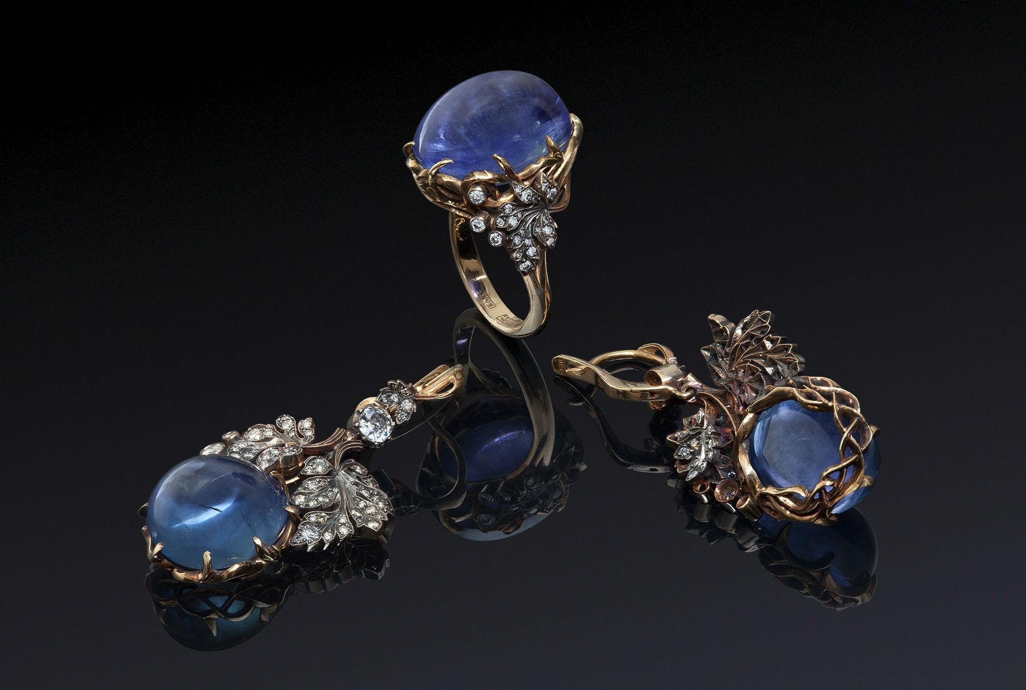 ювелирные украшения с сапфирами Особенности ювелирных украшений с сапфиром
