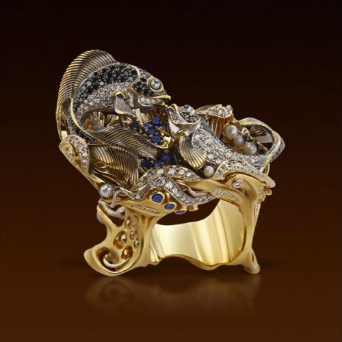 золотые украшения для женщин Цветное золото