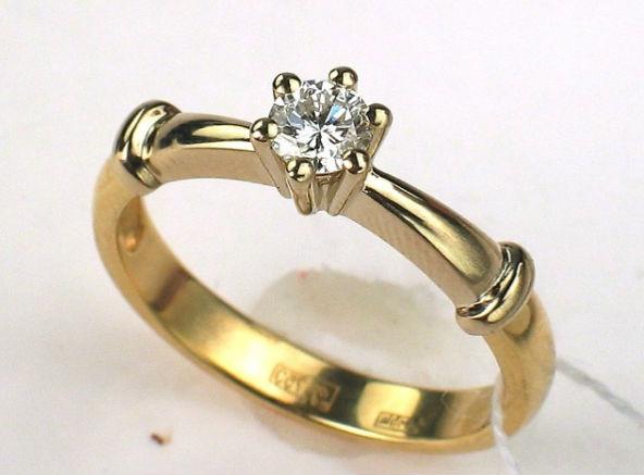 кольцо золотое Цветное золото