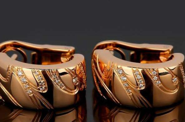 шопард золотые серьги Цветное золото